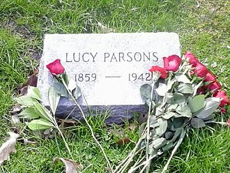 Lucy Parsons - Grave of Anarchist/Communist Lucy Parsons, Forest Home (formerly Waldheim) Cemetery, Forest Park, IL - Photographed May 1, 2015