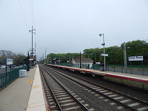 Great River (LIRR station) - The current Great River station in May 2015.