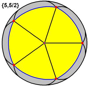 Heptagrammic-order heptagonal tiling - Image: Great dodecahedron tiling