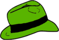Green Fedora hat.png