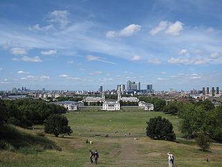 Royal Park and former hunting park in Greenwich, London