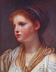 Young Girl with a Blue Ribbon