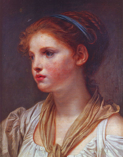 Young girl with blue ribbon, second half of 18th century[11]