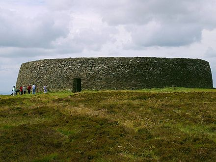The Iron Age fortress Grianan of Aileach (Irish: Grianan Ailigh ). Griahan of aileach.jpg