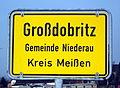Großdobritz Ortseingangsschild I.jpg