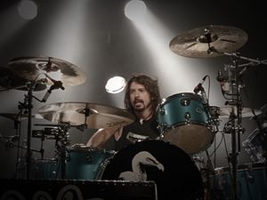 Them Crooked Vultures - Grohl back with his drumkit in a concert with Them Crooked Vultures at Pukkelpop  on August 20, 2009