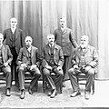 Group photograph of Peake Ministry - (L to R , F Young, H Homburg, T Pascoe, R Butler, A Peake, J Bice)(GN03306).jpg