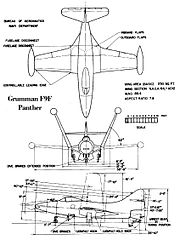 Grumman F9F Panther BuAer drawing