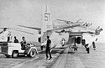 Grumman S2F-1 Tracker of VS-38 aboard USS Princeton (CVS-37), circa in 1957.jpg