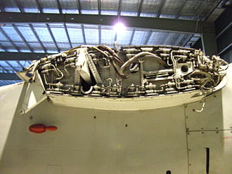 Grumman S-2 Tracker - Starboard wing root and fold mechanism (note: wing removed)