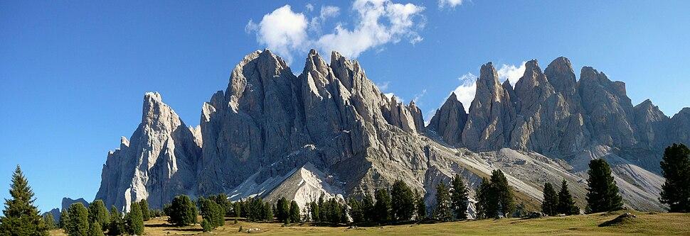 Dolomites in the Italian Alps, a UNESCO World Heritage Site