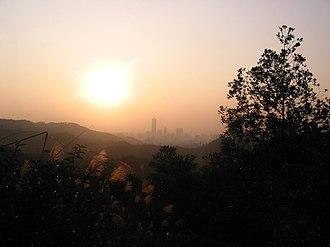Baiyun Mountain - Baiyun with Zhujiang New Town in the distance