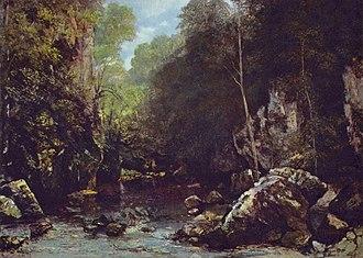 Le ruisseau noir - Image: Gustave Courbet 023