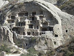 The Guyaju Ruins, showing ancient cave dwellings, are located in Yanqing.