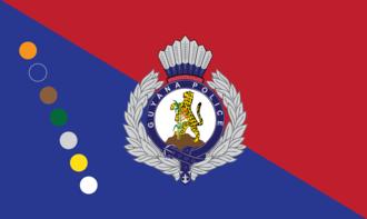 Flag of Guyana - Image: Guyana Police Force Flag HQ