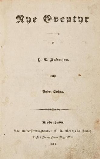 New Fairy Tales (1844) - Cover of the first edition of Nye Eventyr.