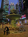 HK Central 新紀元廣場 Grand Millennium Plaza 上環 Sheung Wan Queen's Road night Nov-2013 square fountain.JPG