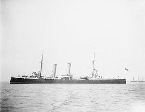 HMS Melampus (1890) - HMS Melampus in 1892.