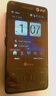 HTC Touch Pro smartphone model