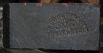 Staffordshire blue brick - Image: H Doulton Rowley Regis brick