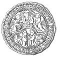 Halberstadt Servitenkloster Siegel 1324 Urkundenbuch 2 Taf 1 Fig 6.png