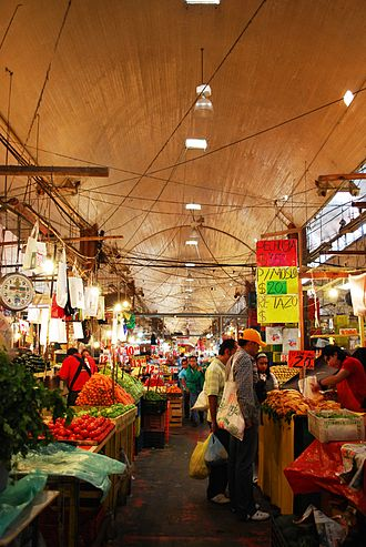 Tianguis - Hall in the La Merced Market in Mexico City