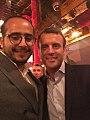 Hamza Hraoui avec Emmanuel Macron le 23 avril à la Rotonde.jpg