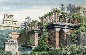 Hanging Gardens of Babylon by Ferdinand Knab (1886).png