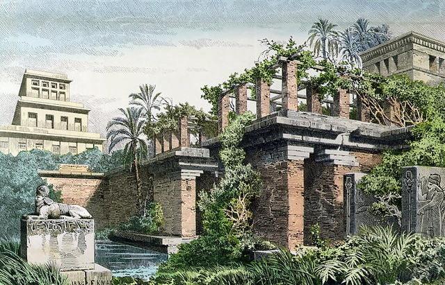 Hanging Gardens of Babylon by Ferdinand Knab (1886)