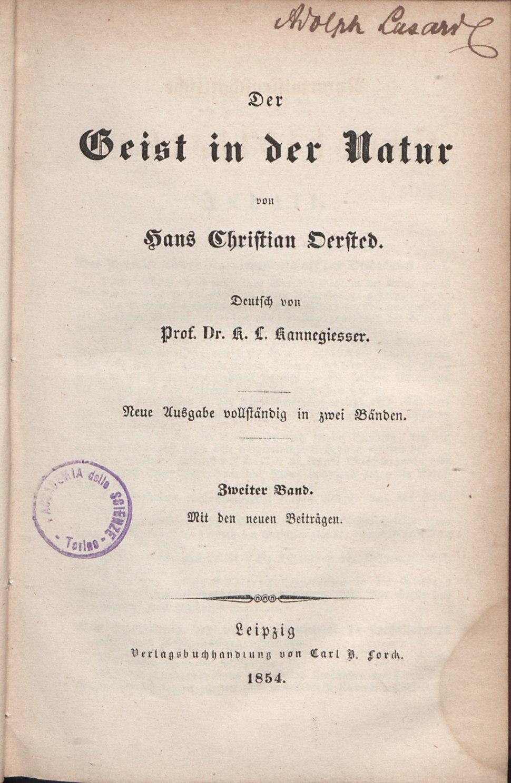 Hans Christian %C3%98rsted, Der Geist in der Natur, 1854.tiff