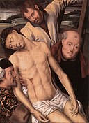 Hans Memling - Deposition (left wing of a diptych) - WGA15003.jpg