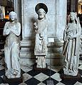 Hans von fernach, cristo benedicente, angelo e maria annunciata, dal protiro meridionale di giovanni da campione, 1403.JPG