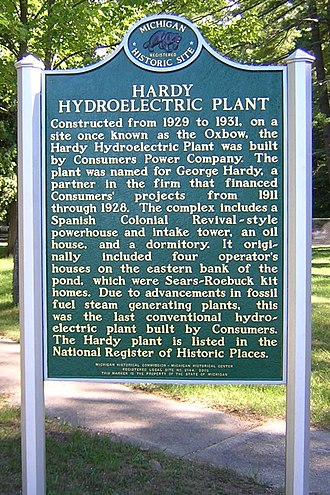Hardy Dam - Historical Marker at the site