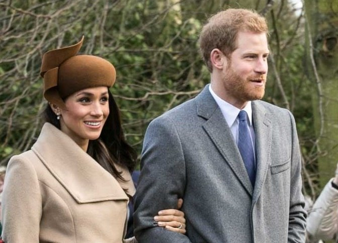 Harry and Meghan on Christmas Day 2017 (cropped)
