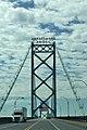 Heading across the Ambassador Bridge to Canada (35979985130).jpg