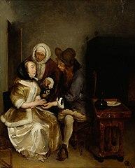 Glass of Lemonade, copy of Gerh. Terborch's painting