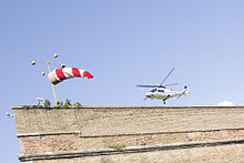 Helicopter at the Vatican's heliport.JPG