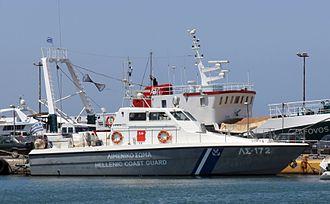 Hellenic Coast Guard - Coastal patrol boat ΛΣ-172 type LCS-57 Mk.II at Zea marina coast guard station, Piraeus.
