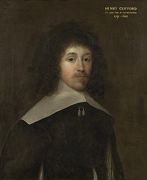 Henry Clifford, 5th Earl of Cumberland - A painting of Henry Clifford by Cornelis Janssens van Ceulen