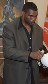 Herschel Walker at Fort Gordon 2010-05-14