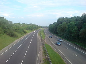 A10 road (England) - A10 outside Hertford facing south towards London