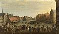 Het afdanken der waardgelders door prins Maurits op de Neude te Utrecht, 31 juli 1618 Rijksmuseum SK-A-606.jpeg