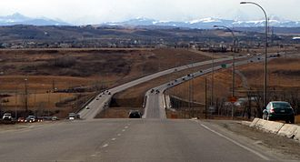 Stoney Trail - Stoney Trail in southern Calgary