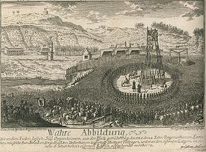 Joseph Süß Oppenheimer - Engraving of Joseph Süß Oppenheimer's execution