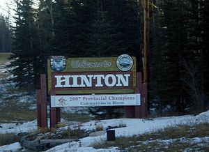 Hinton, Alberta - Welcome sign