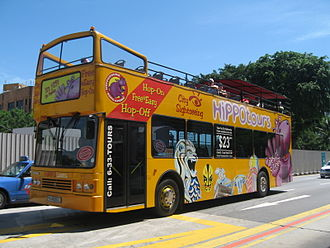 City Sightseeing - Hippo Tours operation in Singapore in May 2006