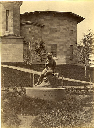 Sabrina statue - The Sabrina statue on the Amherst College campus, 1868