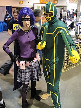 Cosplay de Hit Girl et Kick-Ass en 2010