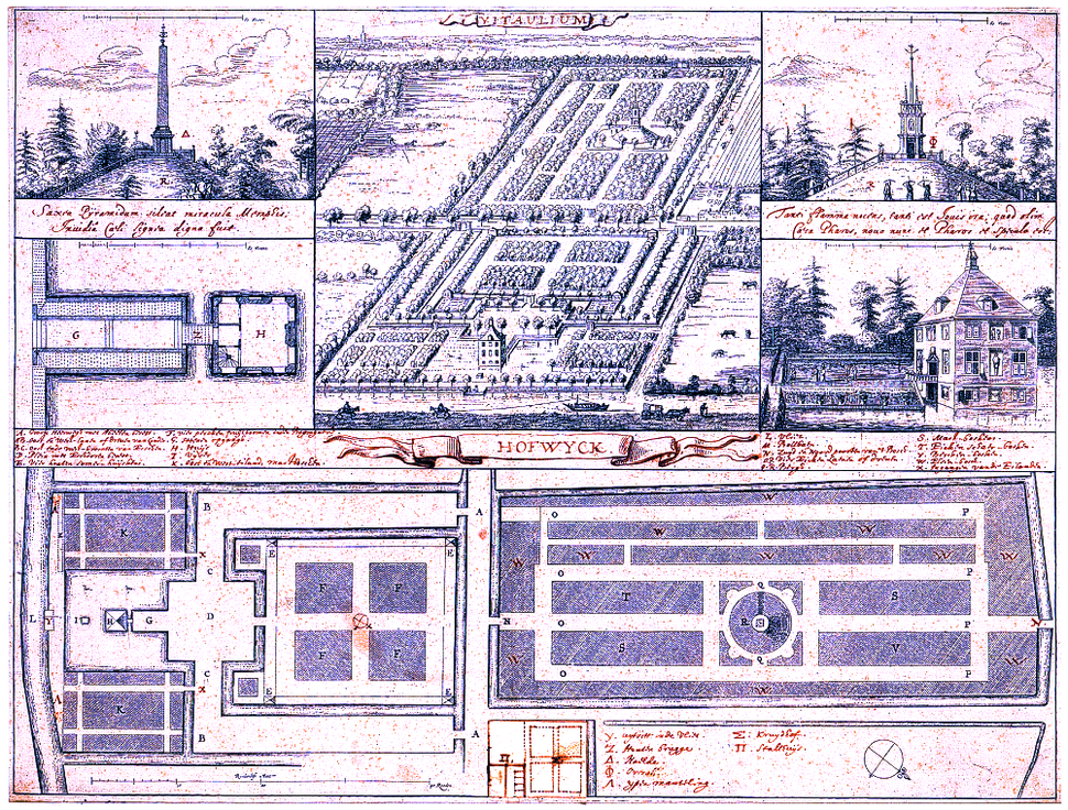 Hofwijck garden-plans drawing