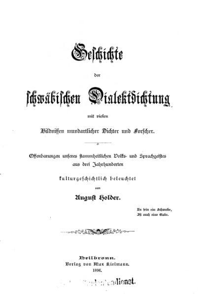 File:Holder Schwaebische Dialektdichtung.djvu